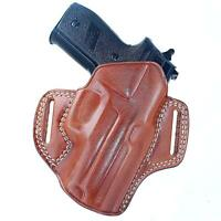 """Leather OWB Pancake Holster Fits Sig Sauer P320 XFive Full Size 9mm 5""""BBL #1393#"""