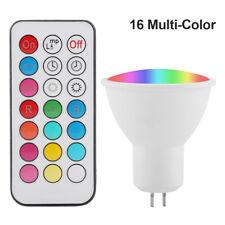 GU5.3 3W RGB LED Ampoule Changement de couleur blanc chaud avec télécommande