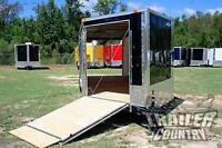 NEW 8.5 X 24 Enclosed Cargo Snowmobile Toy Car Hauler Landscape Trailer w/Ramps