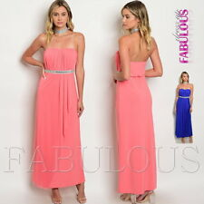New Sexy Strapless Padded Long Maxi Dress Formal Evening Size 6 8 10 12 XS S M L