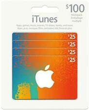 Canadian Apple iTunes Gift Card ($100) Canadian Dollar [CAD, Sealed, 4x$25] NEW