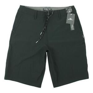 "O'neill Mens 21"" Reserve Solid Hybrid Shorts Black 32 New"