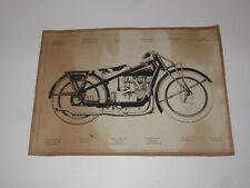 VINTAGE POSTER WANDERER 500 SILHOUETTE MOTORRAD BIKE ~1930 ROCKER S/W DRUCK ALT!