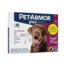PetArmor Plus for dogs 45-88 lbs. 3 applications (Factory Sealed)