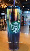 New Starbucks Iridescent  2020 Christmas Venti Cup Tumbler Gold Purple Oilslick