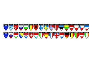 1x EU Country Flags Decoration Strip Nation Names Truck Lorry Car Van Bus Cab