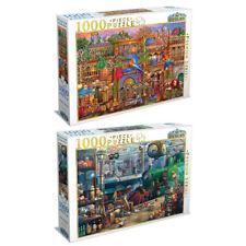 2x 1000pc Tilbury Train Station/Arabian Street 69x50cm Jigsaw Puzzle Toys 8y+