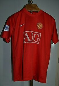 ANCIEN VINTAGE MAILLOT SHIRT MANCHESTER UNITED NIKE FOOT PATCH LEAGUE ANGLAISE