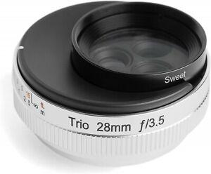 Lensbaby Single focus lens Trio 28 28mm F3.5 472583 Canon RF mount Silver