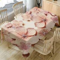 Primeval 3D Flower Table Cloth Rectangular Tea Table Cover Dining Home Decor