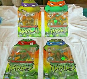 2002 Playmates Lot of all 4 TMNT Teenage Mutant Ninja Turtles