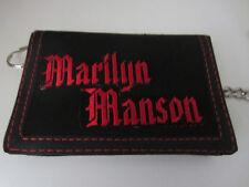 MEN'S  CHAIN TRIFOLD  WALLET MARILYN MANSON ON IT CHAIN WALLET PUNK GOTHIC