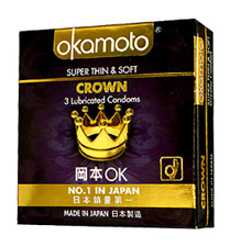OKAMOTO CROWN Japan No.1 Lubricated  CONDOM super thin and soft 3S