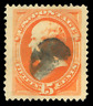 US SCOTT #189 15c RED ORANGE WEBSTER 1879 USED WITH PSE CERTIFICATE
