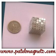 4mm x 4mm x 4mm Neodymium Cube Magnets N42 - 16pcs
