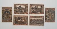 EISENACH WARTBURG NOTGELD 6x 50 PFENNIG 1921 EMERGENCY MONEY GERMANY (9003)