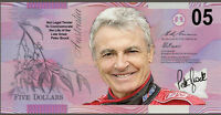 Peter Brock Torana 05  Commemorative Five Dollar note -- Not Legal Tender  ---