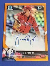 Jojo Romero - 2018 Bowman Chrome Orange Refractor Auto   #3/25