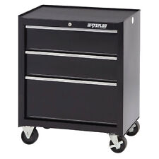 Waterloo SCA-263BK-B Shop Series 3-Drawer Ball-Bearing Steel Tool Cabinet, Black