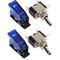 2x Blue Led Light Toggle Rocker Switch 12V 20A SPST ON/ OFF For Car Boat