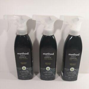 Method Daily Granite Cleaner Apple Orchard Spray 354ml/12oz Bottles *Lot of 3*