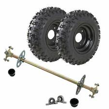 Rear Axle Hub Tube Disc Rotor T8F Sprocket Kit + 4.10-6 Tires Atv go kart Buggy