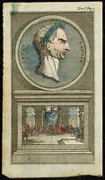 1763 - Retrato Jules César - Grabado