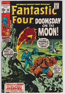 Fantastic Four #98 VF+ 8.5 Doomsday On The Moon Stan Lee Jack Kirby Art!