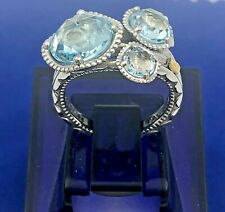 Tacori Budding Brilliance Sterling & 18K Gold Ring-SR13702 - Size 7- Retail $400