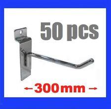 50 x Slatwall Heavy Duty Hooks 300 mm Slat Wall Grooved Panel Hook 30cm