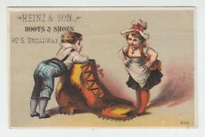[67008] Ca. 1880's TRADE CARD from HEINZ & SON BOOTS & SHOES