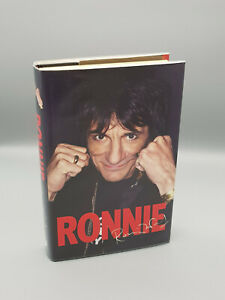 """Rolling Stones """"Ronnie Wood Autobiography"""" hand signed by Ronnie-heart sketch"""