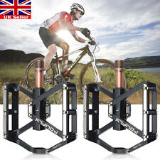 "Rockbros Mountain Bike Bicycle Pedals 9/16"" MTB BMX DH Platform Pedals Black"