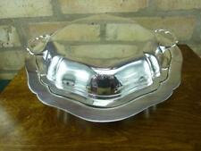 nice Vintage round James Dixon EPNS silver plated serving tureen entree dish