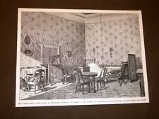 Milano 22 maggio 1879 Camera letto Alessandro Manzoni Anniversario della morte