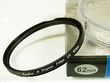 Kenko 62mm UV Digital Filter LENS protezione per 62mm Filter thread-UK Venditore
