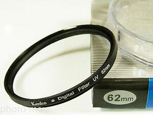 Kenko 62mm UV Digital Filter Lens Protection for 62mm filter thread -  UK SELLER