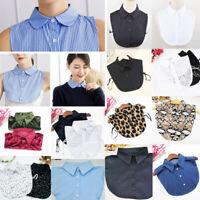 Detachable Shirt Faux Collar Bib False Collar Tie Vintage Fake Lapel Blouse Top