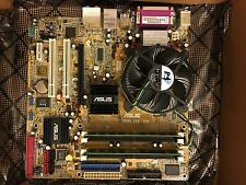ASUS P5LD2-VM Mother Board + 4G Memory, P4 Dual, Heat Sink Fan and I/O shield