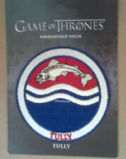 GAME OF THRONES EMBROIDERED PATCH : TULLY 2012
