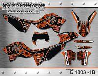 KTM EXC 125 200 250 450 530 2008 up to 2011 sticker kit graphics Moto-StyleMX