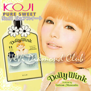 KOJI Dolly Wink False Eyelashes No.11 Pure Sweet (2 pairs/ box)