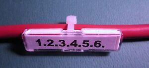 50 Stück Kabelmarkierer, Etikettenträger, Kabel-Rohr Beschriftung, Schilder NEU