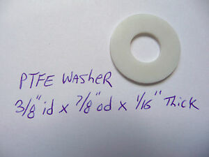 PTFE Washer Teflon 3/8 x 7/8 low Friction Plastic New thrust spacer shim nylon