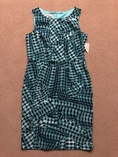 Women's New Evan Picone Dress Size 8 Houndstooth