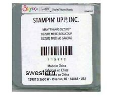 Stampin Up Sizzix Many Thanks Sizzlit Die NEW Retired