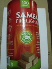 Samba NATURAL FIRELIGHTERS - 100 cubes - SAFE INDOOR OUTDOOR - FREE SHIP Aust