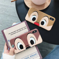 Cartoon disney Chip 'n' Dale couple soft case Cover for iPhone X XS Max 8 7 Plus