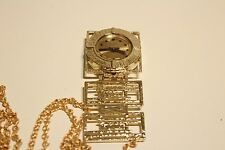 "VINTAGE RARE BEAUTIFUL GOLD TONE MECHANICAL LADIES GERMANY PENDANT WATCH""RUHLA"""