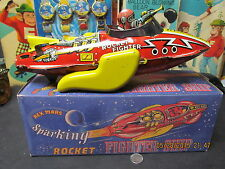 REX MARS ROCKET FIGHTER SHIP MARX GREAT BRITAIN REPRO BOX WORKS EXC+ SCARCE TOY